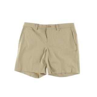 Lauren Ralph Lauren Womens Solid Flat Front Dress Shorts - 4