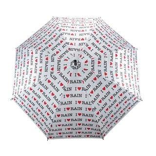 `I Love Rain` Auto Open Stick Umbrella