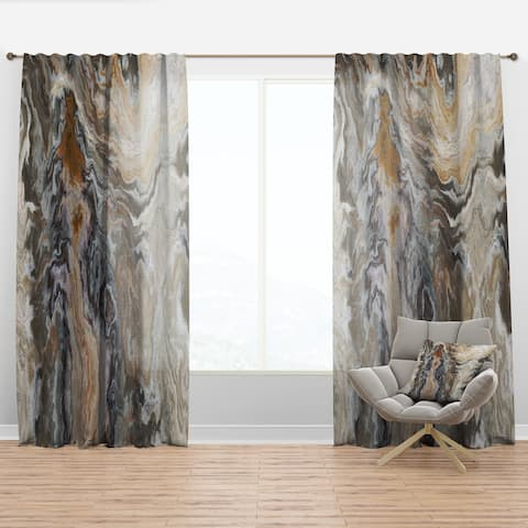 Designart 'Onyx detail Composition' Mid-Century Modern Curtain Panel