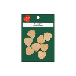"Lara's Wood Pkg Heart 3/4x1/8"" 8pc"