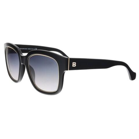 Balenciaga BA0050 01B Black Square Sunglasses - 52-21-140