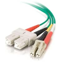 C2G 37231 1m LC-SC 62.5/125 OM1 Duplex Multimode PVC Fiber Optic Cable - Green - Fiber Optic for Network Device - LC Male - SC