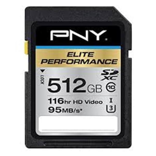 PNY Technologies 512 GB SDXC Class 10 UHS I SD Memory Card