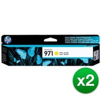 HP 971 High Yield Yellow Original Ink Cartridge (CN624AM)(2-Pack)