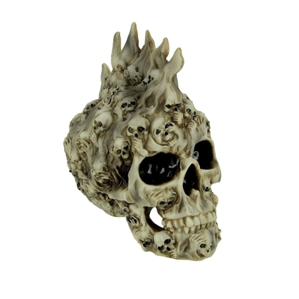 Spirits Rising Ghostly Skull Statue - 8 X 7.25 X 4 inches