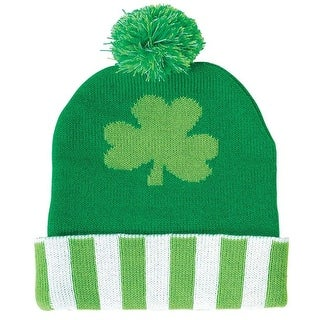 Amscan 395355 11 x 8 in. St. Patricks Day Beanie - Pack of 2
