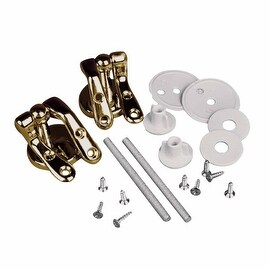 Solid Brass Pair Toilet Seat Hinge Replacement Gold PVD