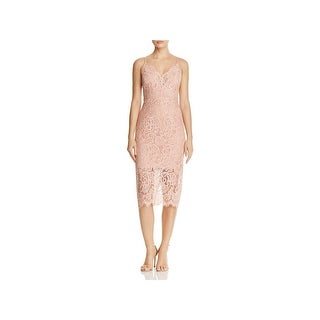 Bardot Womens Cocktail Dress Lace Pencil