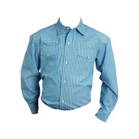 Stetson Western Shirt Boys L/S Snap Stripe Blue