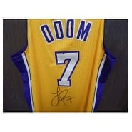 Signed Odom Lamar Los Angeles Lakers Los Angeles Lakers Jersey Size XL autographed