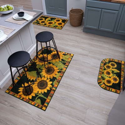 Mohawk Home Farmhouse Floral Kitchen Accent Rug