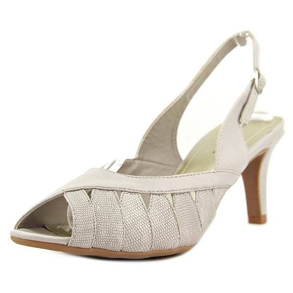 Easy Street Mimi N/S Peep-Toe Synthetic Slingback Heel