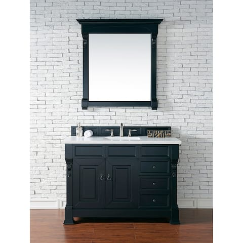"Brookfield Collection 48"" Antique Black Single Vanity by James Martin Vanities"