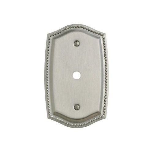 Baldwin 4795.CD Rope Design Cable Outlet Solid Brass Switch plate