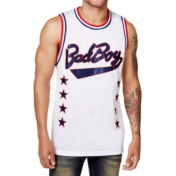 bf2b54662c00 Shop Bad Boy Collection White Mens Size 2XL Basketball Jersey Tank - On  Sale - Free Shipping On Orders Over  45 - Overstock - 26924599
