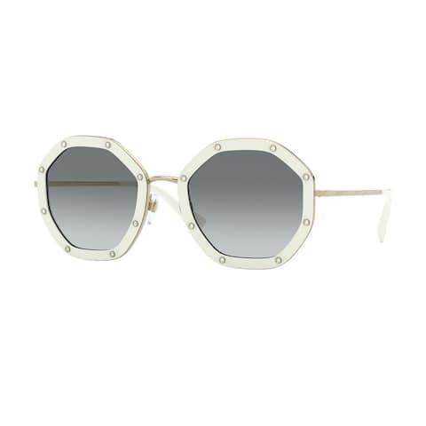 Valentino VA2042 300211 55 Ivory Woman Irregular Sunglasses