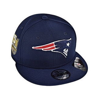 New Era Mens New England Patriots Adjustable Cap, Navy