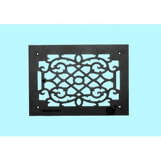 4 Heat Air Grille Cast Victorian Overall 10 x 14