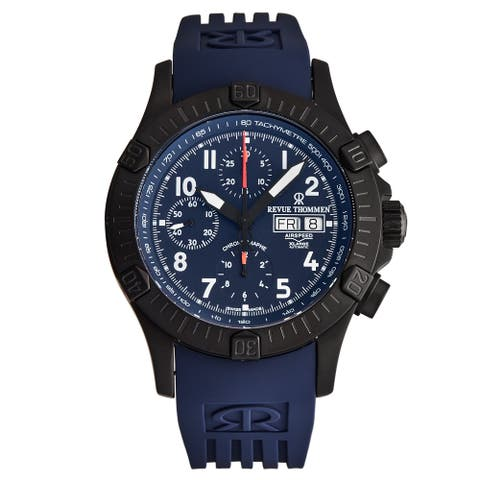Revue Thommen Men's 16071.6875 'Airspeed' Blue Dial Day-Date Chronograph Automatic Watch