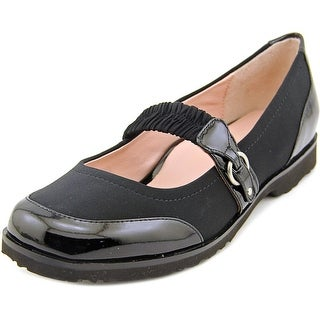 Taryn Rose Jannye Women Round Toe Canvas Black Mary Janes