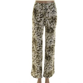 Felicite Womens Juniors Casual Pants Printed Flat Front