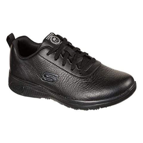 Skechers Women's Work Relaxed Fit Marsing - Gmina SR Slip Resistant Sneaker, Black
