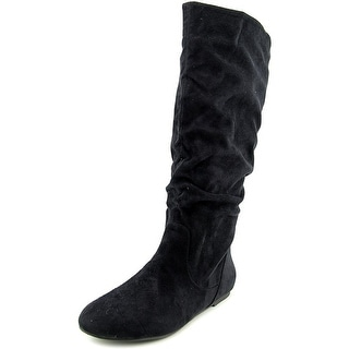 Wanted Toucan Women Round Toe Canvas Black Knee High Boot