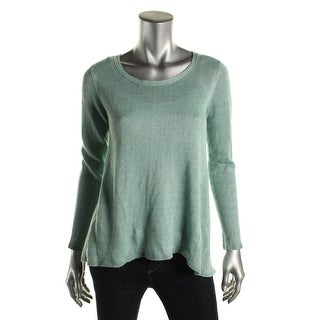 Eileen Fisher Womens Petites High Low Linen Pullover Sweater - pp