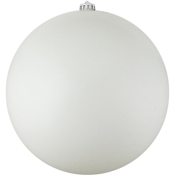 "Shatterproof Matte Winter White Christmas Ball Ornament 10"" (250mm)"