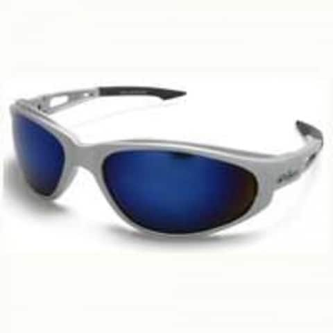 Edge Eyeware SW128 Safety Glasses Silver/Blue Mirror Lens