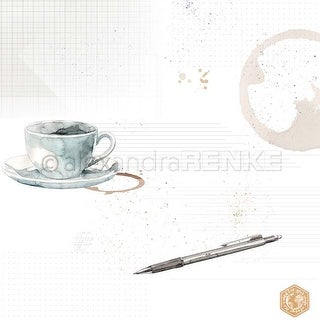 "Coffee Cup With Pattern - Alexandra Renke Midori Basic Design Paper 12""X12"" (25/Pack)"