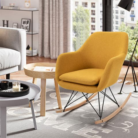 FurnitureR Switch Upholstery Rocker Accent Chair