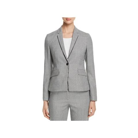 BOSS Hugo Boss Womens One-Button Blazer Office Virgin Wool - 10