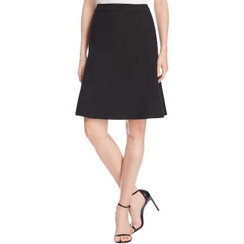 Finity Womens A-Line Skirt Solid Back Zipper