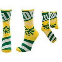 Legend of Zelda Link/ Triforce Reversible Men's Crew Socks - Yellow
