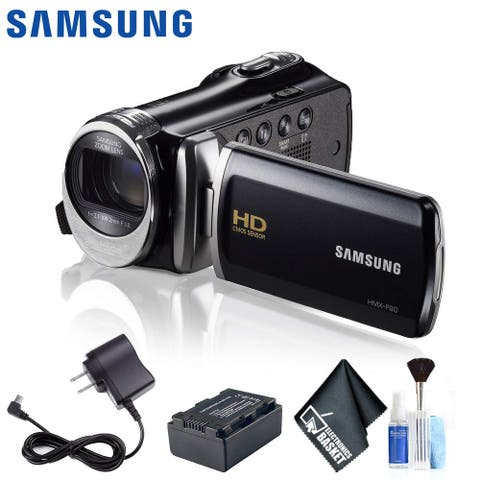 Samsung HMX-F90 HD Camcorder (Black) Kit