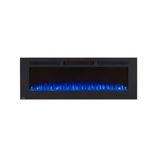 """Napoleon NEFL60FH  5000 BTU 60"""" Wide Wall Mounted Electric Fireplace with Remote Control from the Allure Collection - Black"""