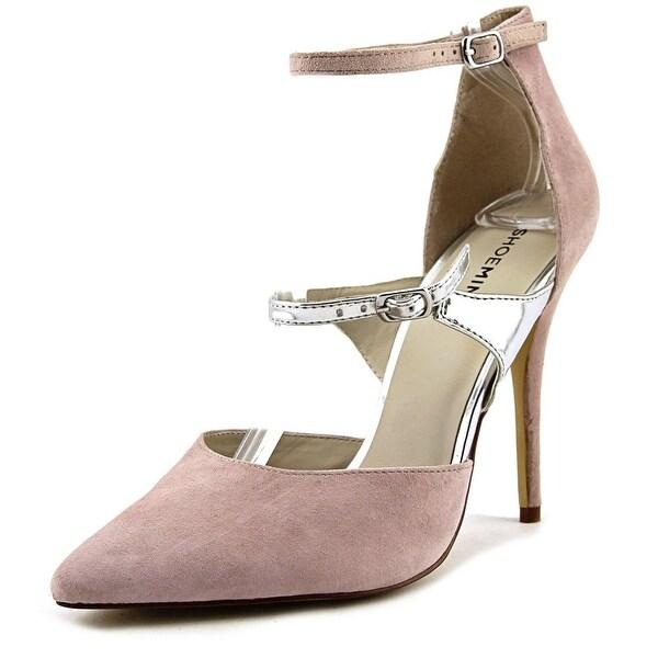 ShoeMint Leitha Women Pointed Toe Synthetic Nude Heels