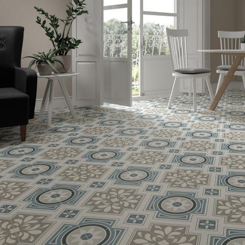 SomerTile Borneo Grey 17.75 in. x 17.75 in. Ceramic Floor and Wall Tile - 17.75'' x 17.75''