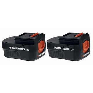 Replacement Battery for Black & Decker HPB12 (2-Pack) Replacement Battery