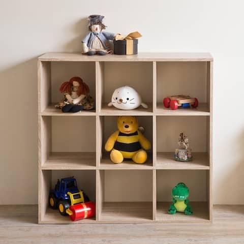 AOOLIVE 9-grid Storage Bookcase Bookshelf.