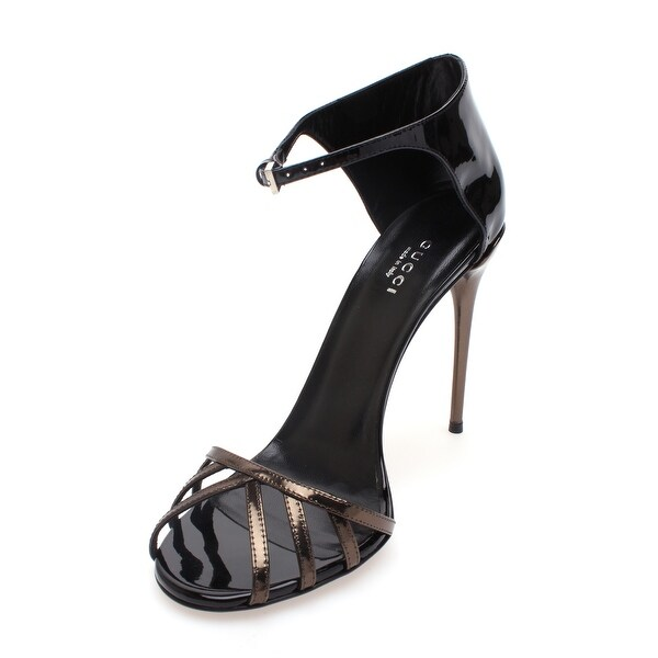 Gucci Women's Two Tone Patent Leather Sandal - 9.5 us (39.5 eur)