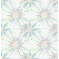 Brewster 1014-001856 Iris Green Shibori Wallpaper - iris green shibori