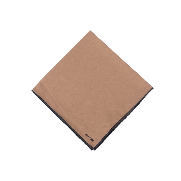 Tom Ford Men's Solid Toffee Brown Silk Pocket Square - One size