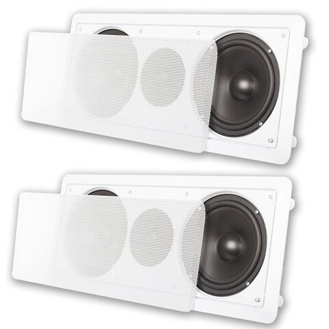 """Acoustic Audio CC6 In-Wall 6.5"""" Center Channel Speaker In Ceiling 600W 2CC6"""