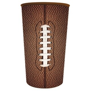 Club Pack of 20 Plastic Souvenir Brown Football Themed Drinking Cup 22oz