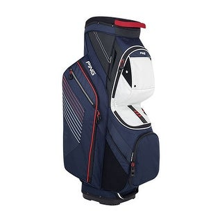 New Ping 2018 Traverse Golf Cart Bag (Navy / White / Red) - navy / white / red