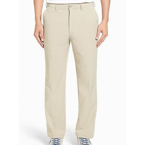 Cutter & Buck Mens Pants Sand Beige Size 35 Khakis Chinos Stretch