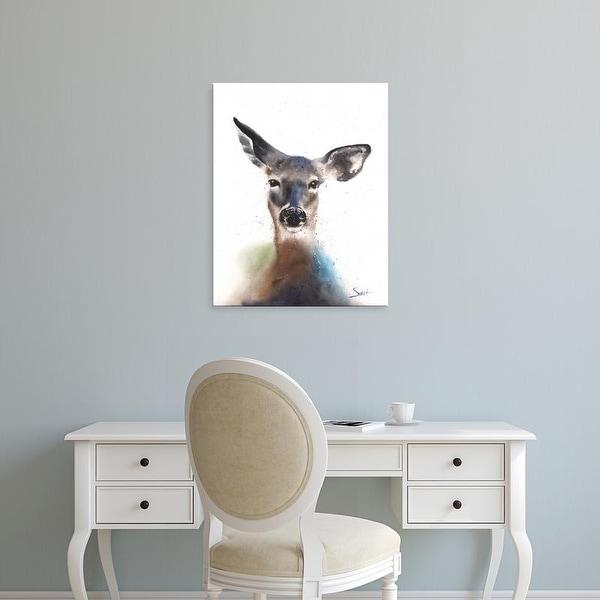 Easy Art Prints Eric Sweet's 'Deer Watercolor' Premium Canvas Art