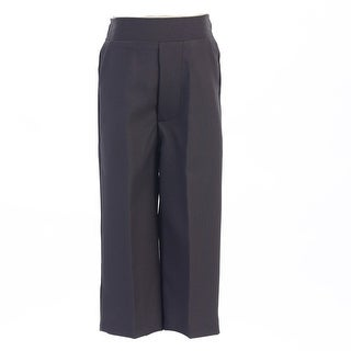 Boys Charcoal Elastic Special Occasion Long Dress Pants 8-14